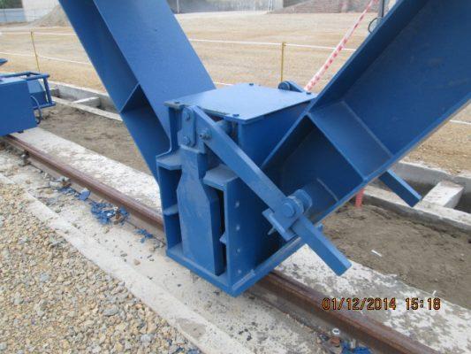 Neo chống bão cổng trục 90 tấn