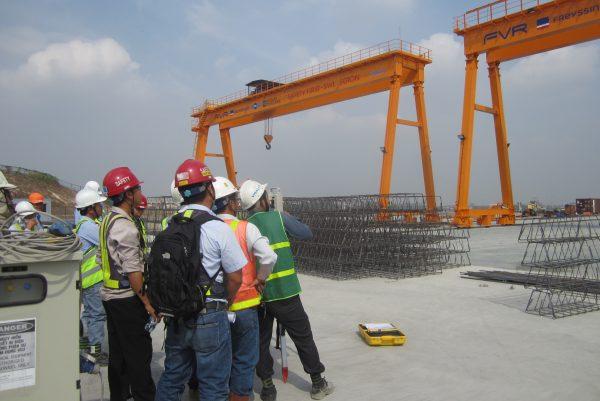 cổng trục dầm đôi 50 tấn