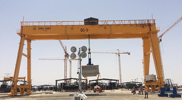 Cổng trục dàm đôi 105 tấn
