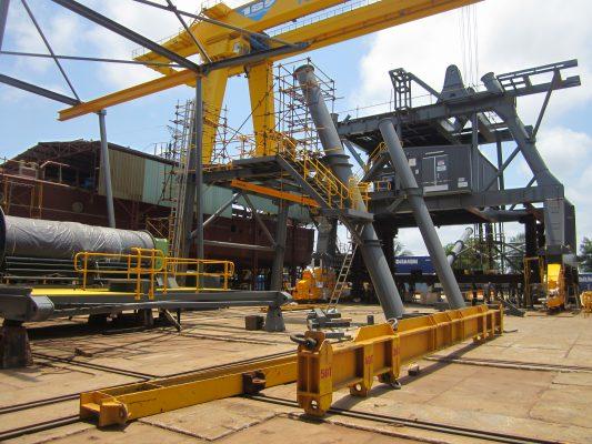 cổng trục dầm đôi 100 tấn