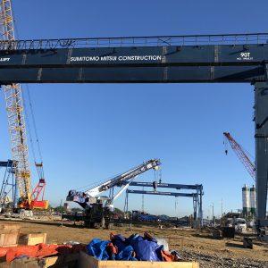 Cổng trục dầm đôi 90 tấn
